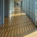 parquet glue down tile room scene