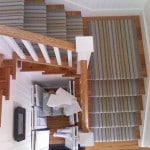 stair runner on wooden & white case