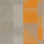 Shaw Contract Engage Carpet Tile color Clarity Orange