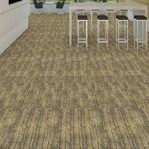 Shaw Contract Honest Carpet Tile color Golden room scene 300x300