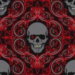 evil damask red