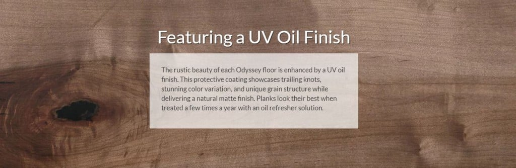 UV Oil Finish