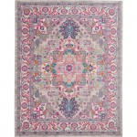 NOURISON PASSION GREY AND PINK AREA RUG