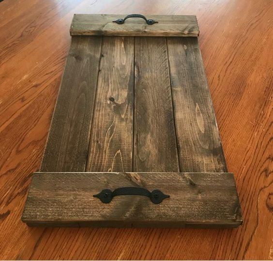SERVING TRAY made from leftover flooring